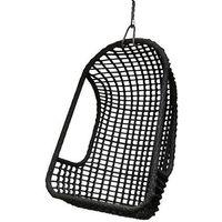 :: fotel wiszący na zewnątrz czarny - czarny marki Hk living