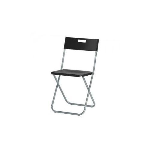 GUNDE Krzesło składane, czarny - sprawdź w wybranym sklepie