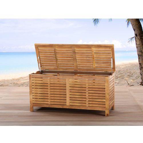 Kufer - skrzynia - ogrodowa - drewniana - na poduchy - RIVIERA - oferta [158c6f2435d5d294]