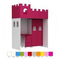 Łóżko antresola podwyższana 180x90 zamek marki Babybest