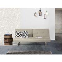 Sofa z funkcją spania jasnobeżowa - kanapa rozkładana - wersalka - DUBLIN, kolor beżowy