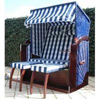 Vidaxl  leżak plażowy xl niebiesko-niebieski (8718475816911)