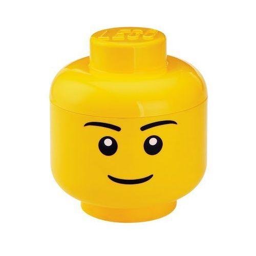 POJEMNIK LEGO GŁÓWKA CHŁOPIEC S - LEGO POJEMNIKI z kategorii pojemniki na zabawki