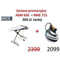 DESKA MAC5 ASM 650 + MAC5 RME 715 - PROFESJONALNE ŻELAZKO Z WYTWORNICĄ PARY, ASM650