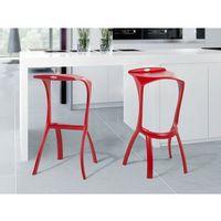 Hoker czerwony - krzesło barowe - taboret - hoker barowy - BROOME (7081452911093)