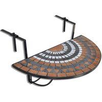 półokrągły, wiszący stolik balkonowy, mozaika marki Vidaxl