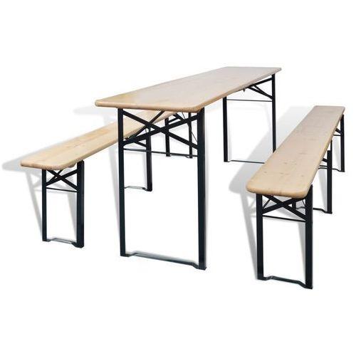 Gdzie kupić Vidaxl  składany stół piwny z ławkami drewniany