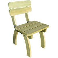 Vidaxl  krzesło z oparciem drewna sosnowego (8718475975977)