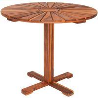 Wideshop Stół stolik okrągły z drewna meble ogrodowe bistro (4250525334111)