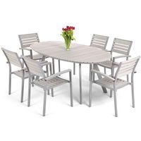 Meble ogrodowe home&garden 827660 lorenzo aluminiowe srebrno-szary + darmowy transport! marki Home&garden