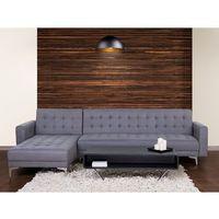 Beliani Sofa szara - kanapa - tapicerowana - rozkładana - narożnik - aberdeen (7081454789751)
