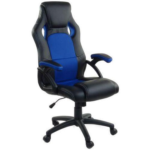Giosedio Fotel biurowy rca czarno-niebieski