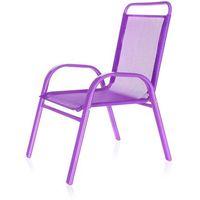 Happy green  krzesełko ogrodowe dziecięce fioletowy 50xt2930a
