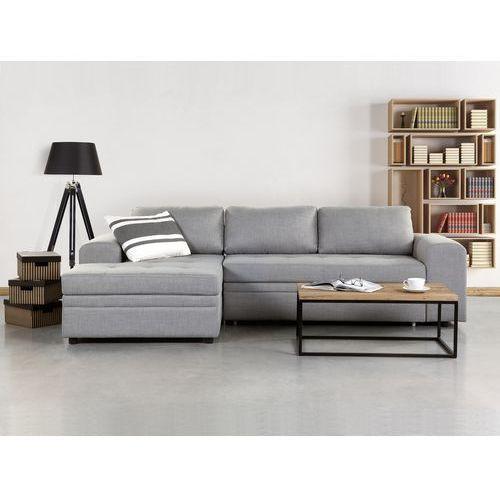 Sofa jasnoszara - Sofa narożna - Sofa rozkładana - Sofa tapicerowana - KIRUNA