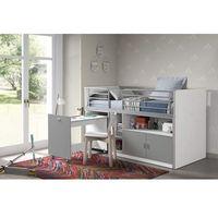 Łóżko piętrowe dla dzieci Bonny Bis Silver z biurkiem (5420070216197)