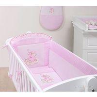 8-el kołyska + materac + pościel haftowana do kołyski 40x90 cm - pokoik różowy marki Mamo-tato