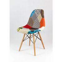 kr012 tapicerowane krzesło patchwork 2 - kolorowy \ drewno buk marki Sk design