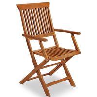 Meble drewniane ogrodowe 4 krzesła marki Wideshop
