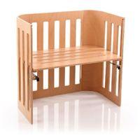 Tobi babybay  łóżeczko dostawne trend, lite drewno bukowe lakierowane, kolor naturalny