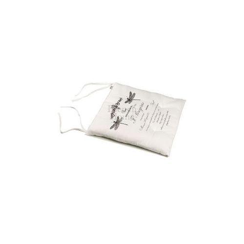 Poduszka na krzesło styl francuski FRENCH biała ()