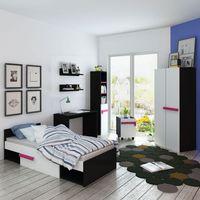 zestaw mebli do sypialni dziecięcej różowy z materacem 8 elem. marki Vidaxl
