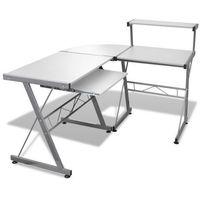 Vidaxl  biurko komputerowe, rogowe, białe