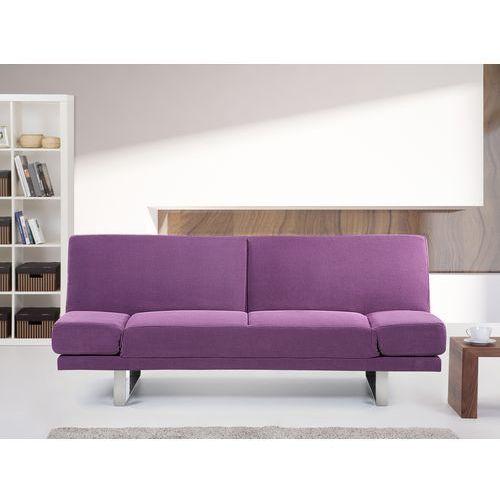 Sofa z funkcją spania fuksja - kanapa rozkładana - wersalka - YORK, marki Beliani do zakupu w Beliani