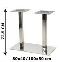 Podstawa stolika NY-B126 podwójna, stal nierdzewna polerowana, 2 wymiary (stelaż stolika, stołu), NY-B126