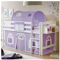 Ticaa kindermöbel Ticaa łóżko pietrowe timmy r buk, biały - fioletowy/biały (4250393866202)