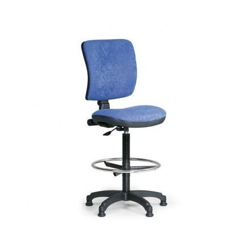 Podwyższone krzesło biurowe milano ii - niebieske marki B2b partner