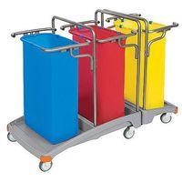Splast Wózek na odpady potrójny 3 x 120 litrów tso-0009