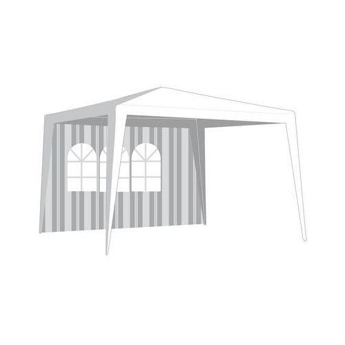 Happy green  ściana boczna do namiotu ogrodowego z oknem, paski