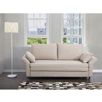 Sofa do spania beżowa - kanapa - rozkładana - wypoczynek - EXETER, kolor beżowy