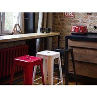 Hoker czerwony - taboret - do jadalni - 40x40x60 cm - CABRILLO