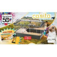 Ferplast Klatka Casita 80 szara [57065070] - Specjalna edycja z dodatkowymi akcesoriami