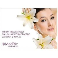 MadRic KUPON PREZENTOWY na usługi kosmetyczne za kwotę 400 zł.