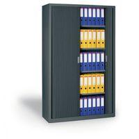 Szafa metalowa z żaluzjowymi drzwiami, 1990x1200x450 mm, ciemnoszary marki B2b partner