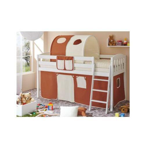 Ticaa łóżko z drabinką eric v sosna biały, brązowy-beżowy marki Ticaa kindermöbel