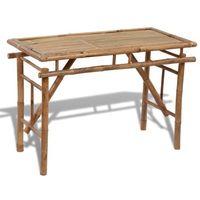 vidaXL Składany, bambusowy stolik