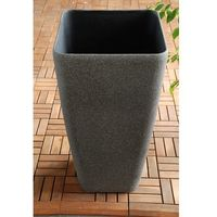 Ogrodowa donica plastikowa wysoka wazon mokka l marki Ogrody leandro