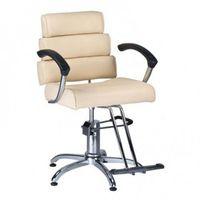 Fotel fryzjerski FIORE BR-3857 kremowy