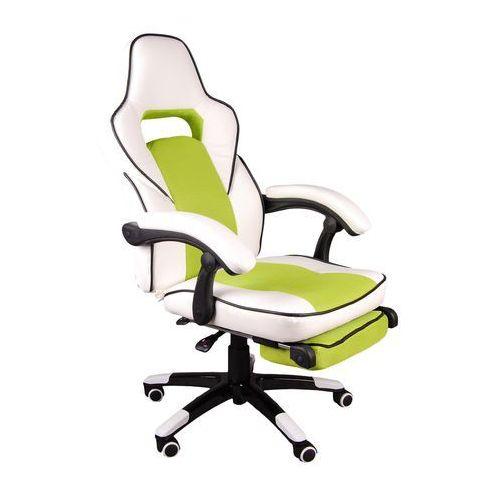 Fotel biurowy FBG biało-zielony, kup u jednego z partnerów