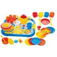 Zestaw serwis obiadowy do zabawy dla dzieci - 40 elementów