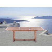 Beliani Drewniany stół ogrodowy - rozkładany - kwadratowy - toscana (7081459875602)