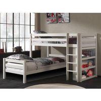 Łóżko piętrowe dla dzieci pino - sosna biała marki Vipack