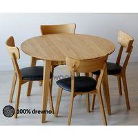 Stół dębowy okrągły 04 rozkładany 110x75x110 marki Woodica