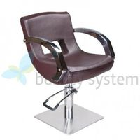 Fotel fryzjerski nino bd-1131 brązowy marki Beauty system