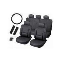 Pokrowce samochodowe skóra - czarne., marki Cars accessories co.