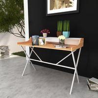 drewniane biurko pod komputer marki Vidaxl