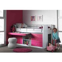 Łóżko piętrowe dla dzieci bonny fuksja z szufladami marki Vipack